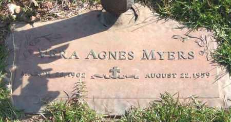 MYERS, VERA AGNES - Saline County, Arkansas | VERA AGNES MYERS - Arkansas Gravestone Photos
