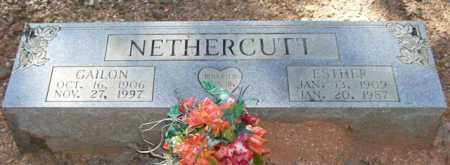 NETHERCUTT, GAILON - Saline County, Arkansas | GAILON NETHERCUTT - Arkansas Gravestone Photos