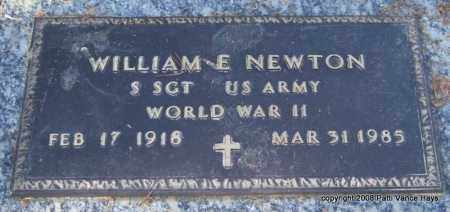 NEWTON (VETERAN WWII), WILLIAM E - Saline County, Arkansas | WILLIAM E NEWTON (VETERAN WWII) - Arkansas Gravestone Photos