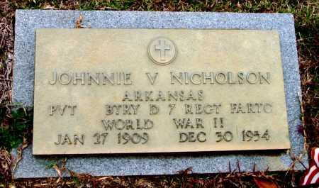 NICHOLSON  (VETERAN WWII), JOHNNIE - Saline County, Arkansas | JOHNNIE NICHOLSON  (VETERAN WWII) - Arkansas Gravestone Photos