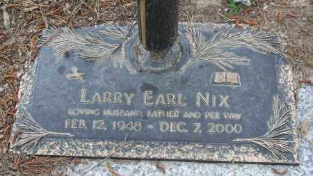 NIX, LARRY EARL - Saline County, Arkansas | LARRY EARL NIX - Arkansas Gravestone Photos