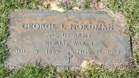 NORDMAN (VETERAN WWI), GEORGE L. - Saline County, Arkansas | GEORGE L. NORDMAN (VETERAN WWI) - Arkansas Gravestone Photos