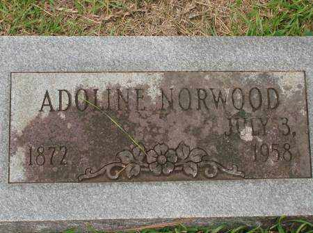 NORWOOD, ADOLINE - Saline County, Arkansas | ADOLINE NORWOOD - Arkansas Gravestone Photos