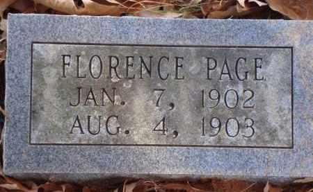 PAGE, FLORENCE - Saline County, Arkansas | FLORENCE PAGE - Arkansas Gravestone Photos