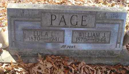 PAGE, WILLIAM J - Saline County, Arkansas | WILLIAM J PAGE - Arkansas Gravestone Photos