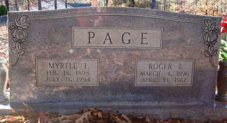 PAGE, ROGER I - Saline County, Arkansas | ROGER I PAGE - Arkansas Gravestone Photos
