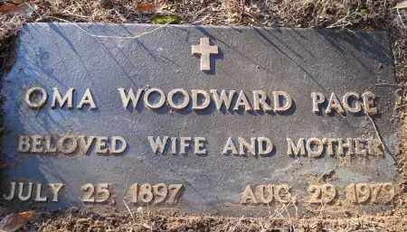 WOODWARD PAGE, OMA - Saline County, Arkansas | OMA WOODWARD PAGE - Arkansas Gravestone Photos