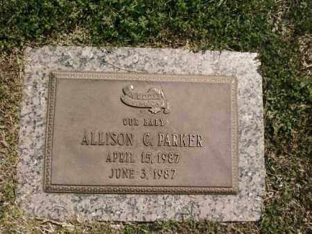PARKER, ALLISON C. - Saline County, Arkansas | ALLISON C. PARKER - Arkansas Gravestone Photos
