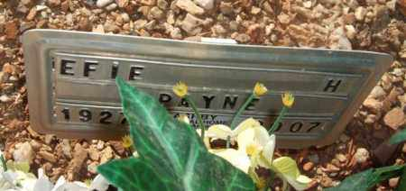 DUNN PAYNE), ELFIE HELLENE - Saline County, Arkansas | ELFIE HELLENE DUNN PAYNE) - Arkansas Gravestone Photos