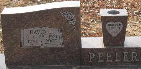 PEELER, DAVID J. (CLOSEUP) - Saline County, Arkansas | DAVID J. (CLOSEUP) PEELER - Arkansas Gravestone Photos
