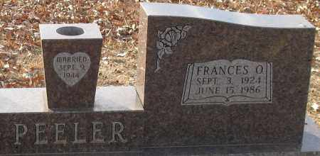 PEELER, FRANCES OLIVIA (CLOSEUP) - Saline County, Arkansas | FRANCES OLIVIA (CLOSEUP) PEELER - Arkansas Gravestone Photos
