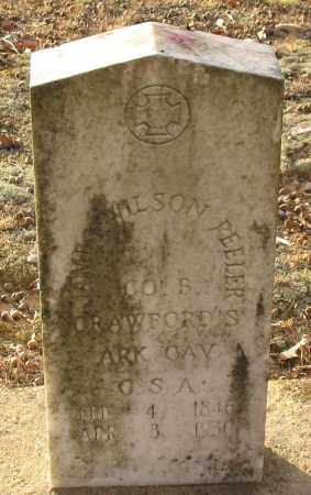 PEELER (VETERAN CSA), JAMES WILSON - Saline County, Arkansas | JAMES WILSON PEELER (VETERAN CSA) - Arkansas Gravestone Photos