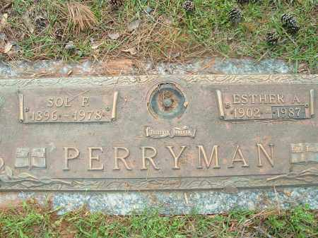 PERRYMAN, ESTHER - Saline County, Arkansas | ESTHER PERRYMAN - Arkansas Gravestone Photos