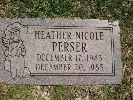 PERSER, HEATHER NICOLE - Saline County, Arkansas | HEATHER NICOLE PERSER - Arkansas Gravestone Photos