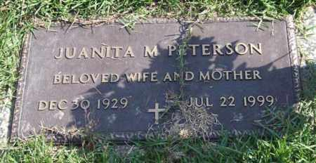 PETERSON, JUANITA M. - Saline County, Arkansas | JUANITA M. PETERSON - Arkansas Gravestone Photos