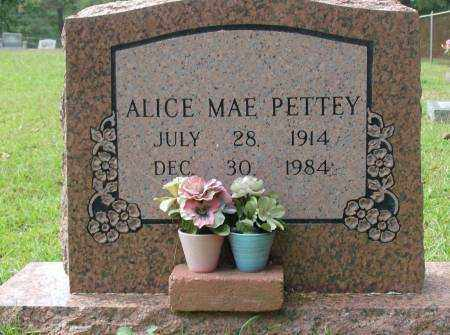 PETTEY, ALICE - Saline County, Arkansas | ALICE PETTEY - Arkansas Gravestone Photos