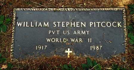 PITCOCK (VETERAN WWII), WILLIAM STEPHEN - Saline County, Arkansas | WILLIAM STEPHEN PITCOCK (VETERAN WWII) - Arkansas Gravestone Photos
