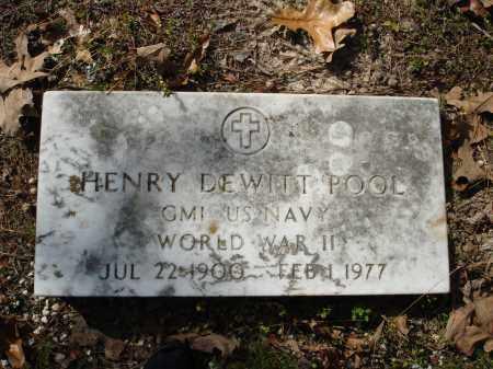 POOL (VETERAN WWII), HENRY DEWITT - Saline County, Arkansas | HENRY DEWITT POOL (VETERAN WWII) - Arkansas Gravestone Photos
