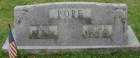 POPE, FRANK - Saline County, Arkansas | FRANK POPE - Arkansas Gravestone Photos