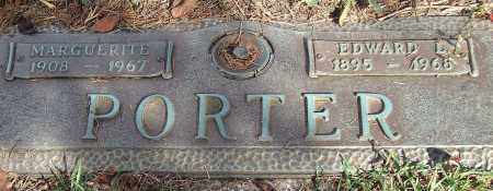 PORTER, EDWARD L. - Saline County, Arkansas | EDWARD L. PORTER - Arkansas Gravestone Photos