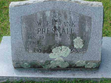 PRESNALL, W.F. - Saline County, Arkansas | W.F. PRESNALL - Arkansas Gravestone Photos