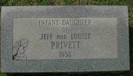 PREVITT, INFANT DAUGHTER - Saline County, Arkansas   INFANT DAUGHTER PREVITT - Arkansas Gravestone Photos