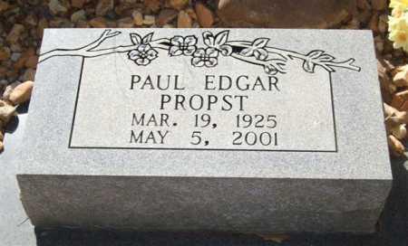 PROPST, PAUL EDGAR - Saline County, Arkansas   PAUL EDGAR PROPST - Arkansas Gravestone Photos