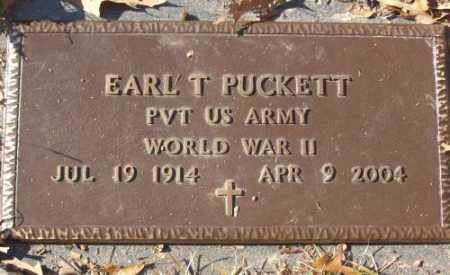PUCKETT (VETERAN WWII), EARL T - Saline County, Arkansas | EARL T PUCKETT (VETERAN WWII) - Arkansas Gravestone Photos