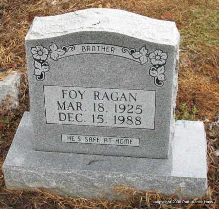 RAGAN, FOY - Saline County, Arkansas | FOY RAGAN - Arkansas Gravestone Photos