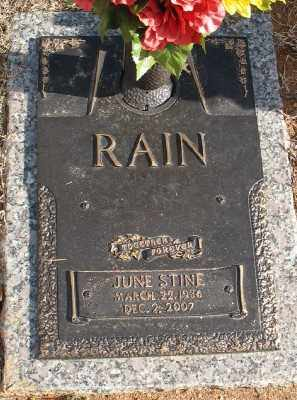 STINE RAIN, JUNE - Saline County, Arkansas | JUNE STINE RAIN - Arkansas Gravestone Photos