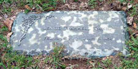 TRAMMELL RAMBO, JENNIE - Saline County, Arkansas | JENNIE TRAMMELL RAMBO - Arkansas Gravestone Photos