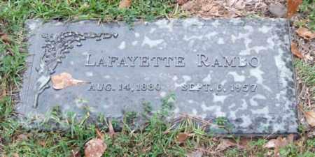 RAMBO, LAFAYETTE - Saline County, Arkansas | LAFAYETTE RAMBO - Arkansas Gravestone Photos