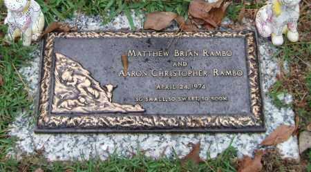 RAMBO, MATTHEW BRIAN - Saline County, Arkansas | MATTHEW BRIAN RAMBO - Arkansas Gravestone Photos