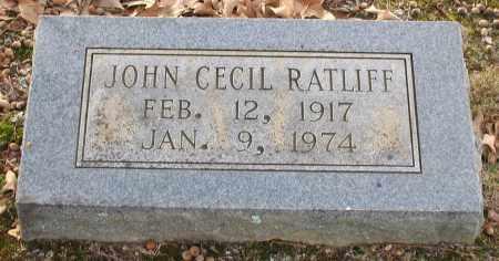RATLIFF, JOHN CECIL - Saline County, Arkansas | JOHN CECIL RATLIFF - Arkansas Gravestone Photos