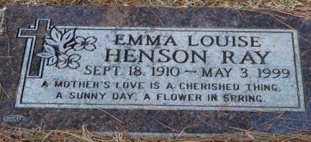 HENSON RAY, EMMA LOUISE - Saline County, Arkansas | EMMA LOUISE HENSON RAY - Arkansas Gravestone Photos