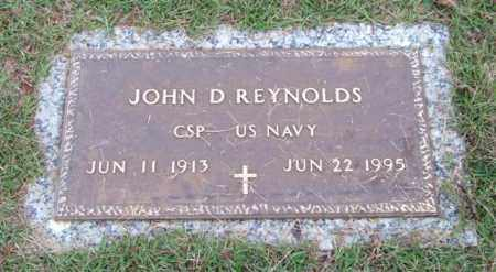 REYNOLDS (VETERAN), JOHN D - Saline County, Arkansas | JOHN D REYNOLDS (VETERAN) - Arkansas Gravestone Photos