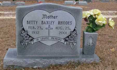 BAXLEY RHODES, BETTY - Saline County, Arkansas | BETTY BAXLEY RHODES - Arkansas Gravestone Photos