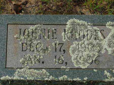 RHODES, JOHNIE - Saline County, Arkansas | JOHNIE RHODES - Arkansas Gravestone Photos