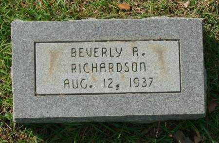 RICHARDSON, BEVERLY A - Saline County, Arkansas | BEVERLY A RICHARDSON - Arkansas Gravestone Photos