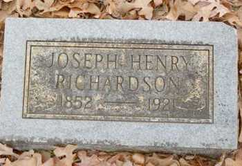 RICHARDSON, JOSEPH HENRY - Saline County, Arkansas | JOSEPH HENRY RICHARDSON - Arkansas Gravestone Photos