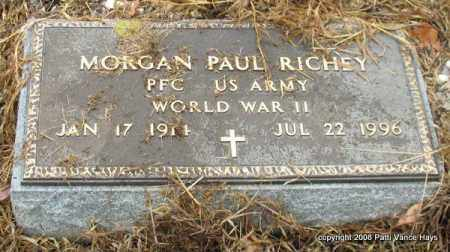 RICHEY (VETERAN WWII), MORGAN PAUL - Saline County, Arkansas | MORGAN PAUL RICHEY (VETERAN WWII) - Arkansas Gravestone Photos