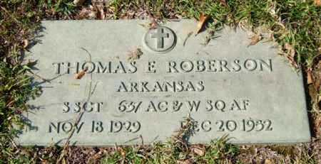 ROBERSON (VETERAN), THOMAS E. - Saline County, Arkansas | THOMAS E. ROBERSON (VETERAN) - Arkansas Gravestone Photos