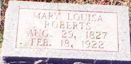 HOUSER ROBERTS, MARY LOUISA - Saline County, Arkansas | MARY LOUISA HOUSER ROBERTS - Arkansas Gravestone Photos