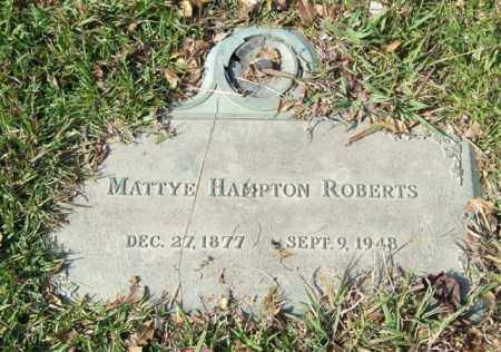 HAMPTON ROBERTS, MATTYE - Saline County, Arkansas | MATTYE HAMPTON ROBERTS - Arkansas Gravestone Photos