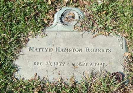 ROBERTS, MATTYE - Saline County, Arkansas | MATTYE ROBERTS - Arkansas Gravestone Photos