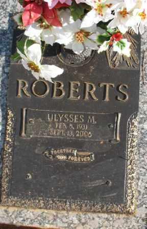 ROBERTS, ULYSSES M. - Saline County, Arkansas | ULYSSES M. ROBERTS - Arkansas Gravestone Photos