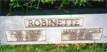 ROBINETTE, JOHN WESLEY - Saline County, Arkansas | JOHN WESLEY ROBINETTE - Arkansas Gravestone Photos