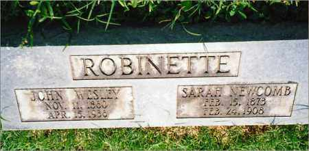 NEWCOMB ROBINETTE, SARAH - Saline County, Arkansas | SARAH NEWCOMB ROBINETTE - Arkansas Gravestone Photos