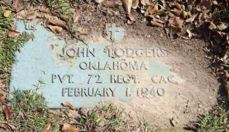 RODGERS (VETERAN), JOHN - Saline County, Arkansas | JOHN RODGERS (VETERAN) - Arkansas Gravestone Photos