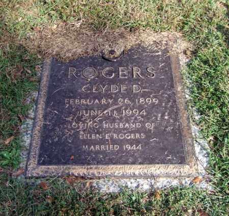 ROGERS, CLYDE D. - Saline County, Arkansas | CLYDE D. ROGERS - Arkansas Gravestone Photos